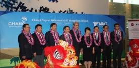 Улаанбаатар-Бээжин-Сингапур чиглэлийн анхны нислэгийн нээлтийн ёслолын арга боллоо