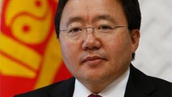 Монгол Улсын Ерөнхийлөгч Ц.Элбэгдорж хүчит бөхийн барилдааныг нээж үг хэлэв