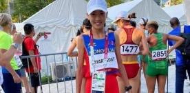 Б.Мөнхзаяа эмэгтэйчүүдийн марафон гүйлтийн тэмцээнд 45-р байр эзэллээ