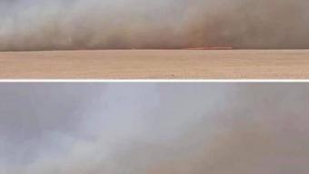 Дарьгангын иргэд гал түймрийг унтраахаар ажиллаж байна